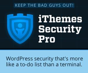 ithemes security plugin ad